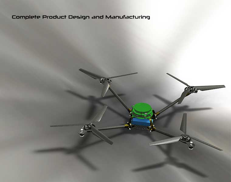 Spectrolutions X-pro Quad Rotor Helicopter Rendering from Autodesk Inventor